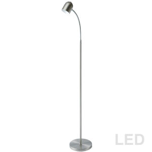 Satin Chrome Eight-Inch LED Floor Lamp