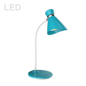 Blue with White LED Desk Lamp