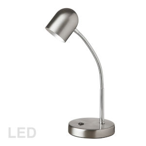 Satin Chrome Five-Inch LED Desk Lamp