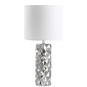 Polished Chrome with White 12-Inch One-Light Table Lamp
