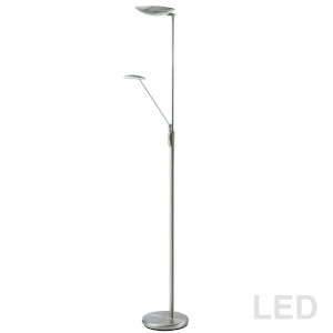 Satin Chrome 11-Inch LED Floor Lamp