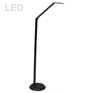 Satin Black 10-Inch LED Floor Lamp