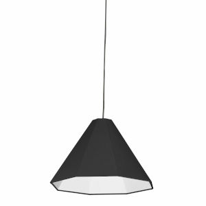 Black 15-Inch One-Light Pendant