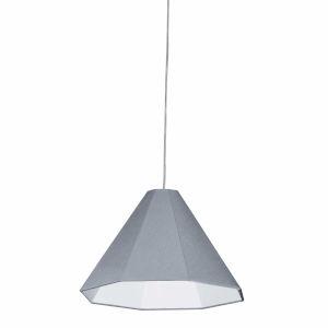 Gray 15-Inch One-Light Pendant