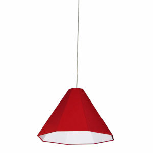Red 15-Inch One-Light Pendant