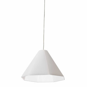 White 15-Inch One-Light Pendant