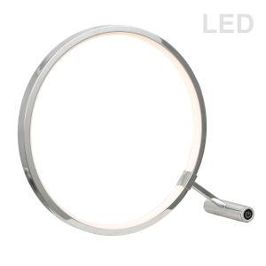 Polished Chrome 14-Inch LED Table Lamp