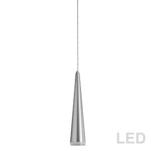 Satin Chrome with Clear 12-Inch LED Mini Pendant