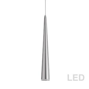 Satin Chrome with Clear 24-Inch LED Mini Pendant