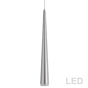 Satin Chrome with Clear 36-Inch LED Mini Pendant