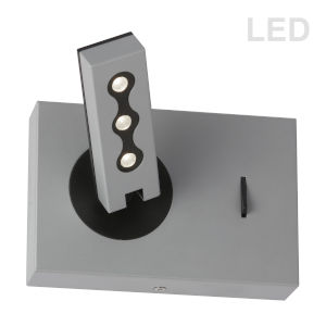 Silver Three-Light LED Wall Sconce