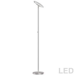 Satin Chrome LED Torchiere Floor Lamp