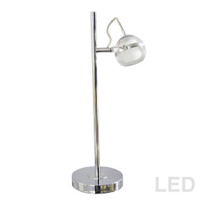 Polished Chrome Eight-Inch LED Table Lamp