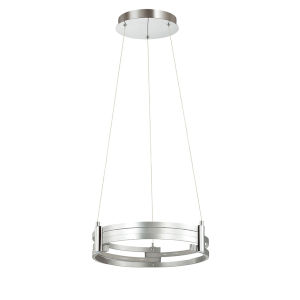 Pono Silver with Polished Chrome LED Pendant