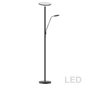 Satin Black LED Floor Lamp