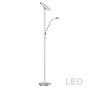 Satin Chrome LED Floor Lamp