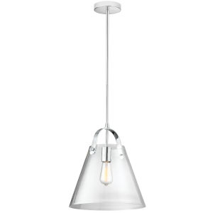 Clear with Polished Chrome One-Light Pendant