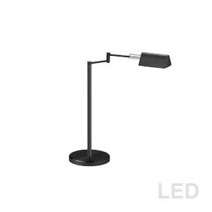 Black with Polished Chrome 21-Inch LED Desk Lamp