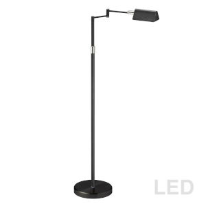 Black with Polished Chrome 23-Inch LED Floor Lamp