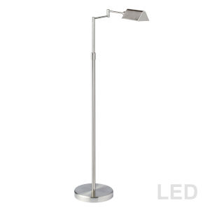 Satin Nickel 23-Inch LED Floor Lamp