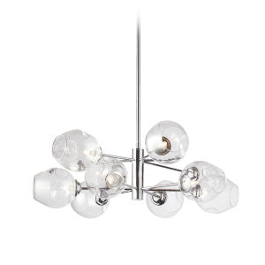 Abii Polished Chrome with Clear Eight-Light Pendant
