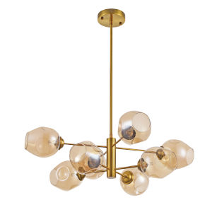 Abii Vintage Bronze Eight-Light Pendant