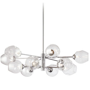 Abii Polished Chrome with Clear 12-Light Pendant