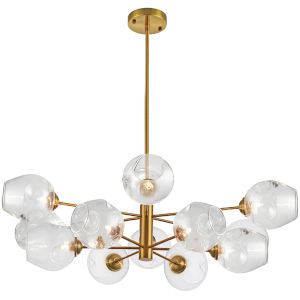 Abii Vintage Bronze with Clear 12-Light Pendant
