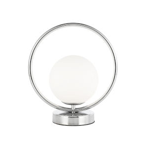 Adrienna Polished Chrome with White One-Light Table Lamp