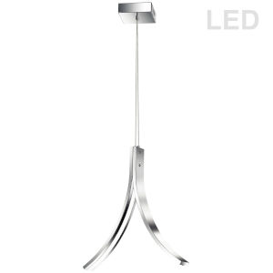 Alison Polished Chrome 15-Inch Two-Light LED Pendant