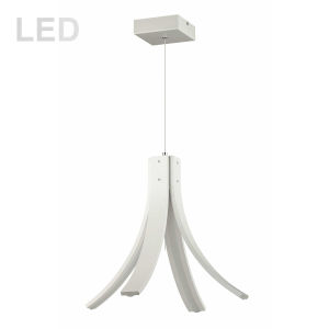 Alison Matte White Four-Light LED Pendant