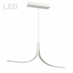 Alison Matte White 40-Inch Two-Light LED Pendant