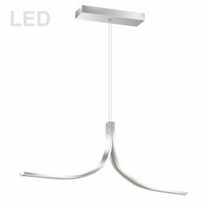 Alison Polished Chrome 40-Inch Two-Light LED Pendant