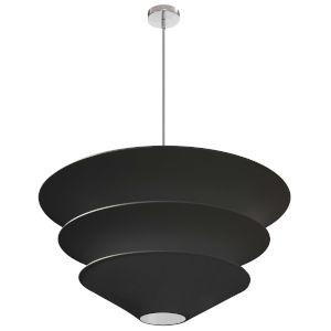 Alora Black with Polished Chrome Five-Light Pendant