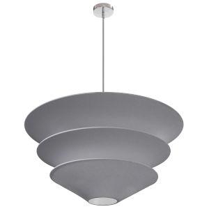 Alora Gray with Polished Chrome Five-Light Pendant
