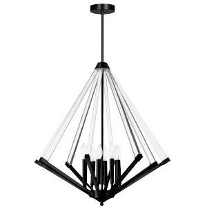Aalto Matte Black Eight-Light Chandelier