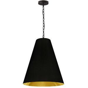 Anaya Matte Black and Gold One-Light Medium Pendant