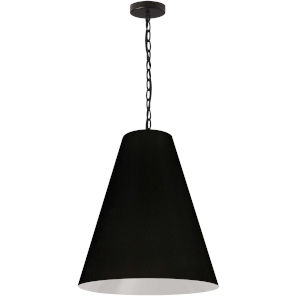 Anaya Matte Black One-Light Medium Pendant