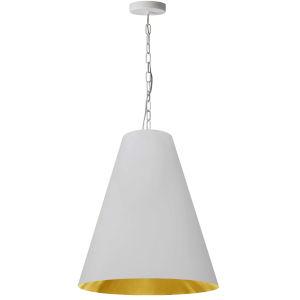 Anaya Matte White and Gold One-Light Pendant