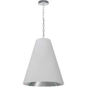 Anaya White and Polished Chrome One-Light Medium Pendant