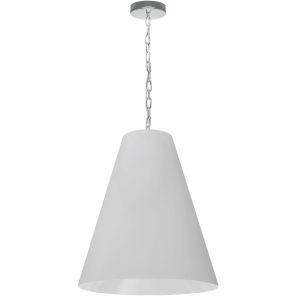 Anaya Polished Chrome and White 20-Inch One-Light Pendant