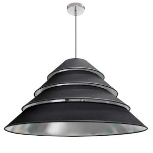 Aranza Black Silver Four-Light Pendant