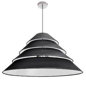 Aranza Black Four-Light Pendant