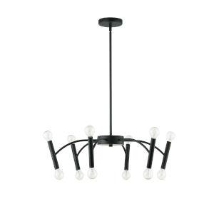 Aragog Matte Black 12-Light Pendant