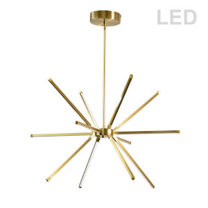 Array Aged Brass 22-Inch 12-Light LED Chandelier