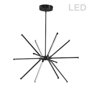 Array Matte Black 22-Inch 12-Light LED Chandelier