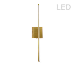Array Aged Brass 25-Inch Vertical LED Wall Sconce