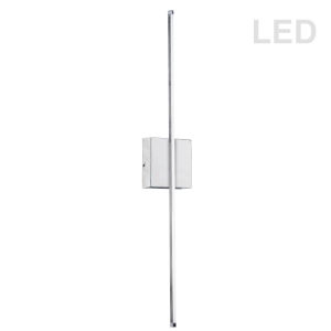 Array Polished Chrome 25-Inch Vertical LED Wall Sconce
