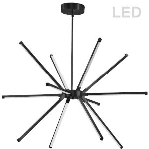 Array Matte Black 32-Inch 12-Light LED Chandelier