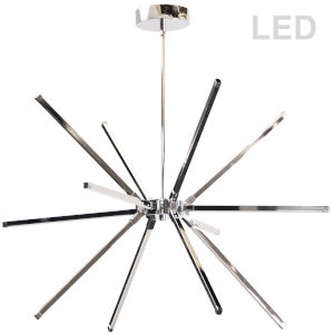Array Polished Chrome 12-Light LED Chandelier